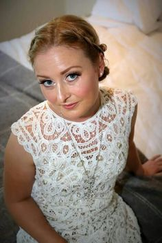 Wedding dress made from Vintage Battenburg Lace