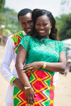 Kente Queen photo | Afia Asabea and her beau African Patterns, Kente Styles, Kente Cloth, Queen Photos, Matching Couples, Pageant, African Fashion, People, Clothes