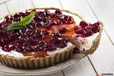 Receita de Tarte cheesecake com framboesas frescas. Descubra como cozinhar Tarte cheesecake de maneira prática e deliciosa com a TeleCulinária!