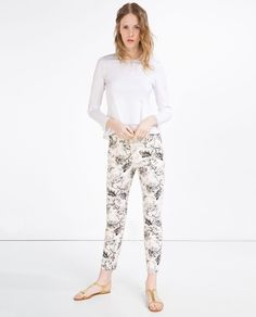 zara woman combined office. PRINTED TROUSERS-View All-TROUSERS-WOMAN | ZARA United States Zara Woman Combined Office
