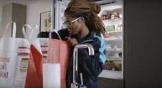 Supermarket and smart lock system enable in-fridge delivery