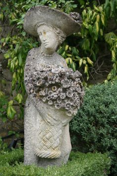 A favorite garden ornament. One of a pair at Rosemary Verey's Barnsley House, UK