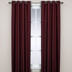 "Boca Thermosave™ Window Panel - BedBathandBeyond.com Two 63"" panels or something like this...chocolate brown or burgundy"