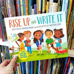 Rise Up and Write It combines a celebration of civic engagement with the hands-on fun of real pull-out examples of activism tools and is sure to encourage young readers to want to get up and get involved. 📸 @storiesbystorie Spelling Worksheets, Spelling Practice, Activities For Boys, Writing Activities, The Invisible Boy, Growth Mindset Book, Scrabble Words, Rainbow Words
