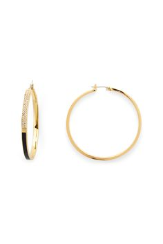 DVF Colorblock Pave Hoop Earrings