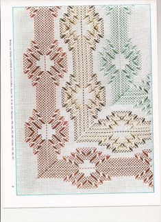 More huck embroidery Swedish Embroidery, Diy Embroidery, Cross Stitch Embroidery, Embroidery Patterns, Crochet Patterns, Weaving Designs, Weaving Projects, Tiny Cross Stitch, Cross Stitch Designs