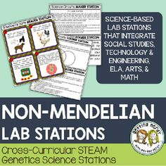 Non-Mendelian Inheritance - Genetics - Science Centers / Lab Stations Engineering Science, Science Biology, Earth Science, Life Science, Science Labs, Ap Biology, Physical Science, Science Education, Teaching Science