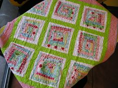 This is so cute and scrappy.  What a great way to use up some of your scraps.