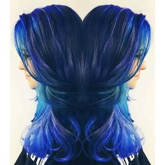 Neon Multi-Dimensional Blue Hair