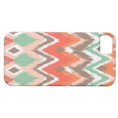 Tribal aztec chevron zig zag stripes chic pattern iPhone 5 cover