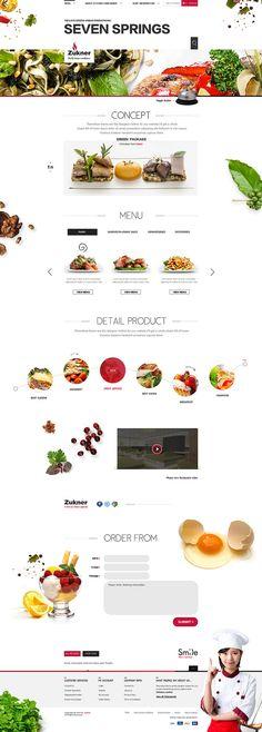 原创作品:Zukner餐饮网站