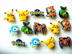 14 New Pokemon Pikachu Shoe Charms for Croc Shoes & Jibbitz Bands Bracelet Wristband by enjoybuying. $4.99. our shoe charms can fit crocs shoes perfectly. lovely cool charms to make your shoes fun. Quantity: 14pcs=1set*14pcs/set * Series: Pokemon Pikachu   *Material: PVC  * Condition: Brand new