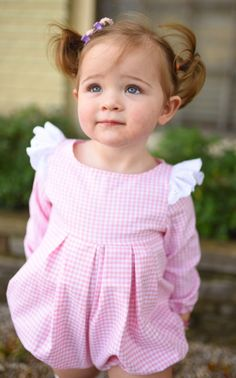 Pink Gingham & Lace Romper