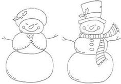 Mr and Mrs Snowman