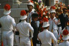 Diana attending Princess Grace's funeral 1982