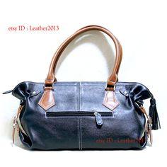 Genuine black leather handbag, leather bag, leather purse bag, leather tote bag, leather evening bag, leather women bag WAP99AB
