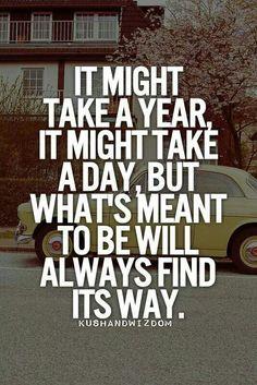 It'll happen.