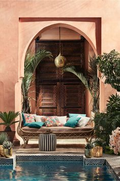 How to Turn Your Backyard into a Moroccan OasisYou can find Moroccan interiors and more on our website.How to Turn Your Backyard into a Moroccan Oasis Moroccan Design, Moroccan Decor, Moroccan Style, Moroccan Bedroom, Moroccan Lanterns, Moroccan Garden, Home Interior, Interior And Exterior, Mansion Interior