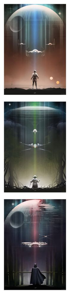 Andy Fairhurst's #StarWars Trilogy Posters