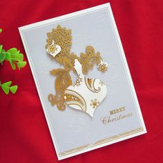 #christmas #card #elegant #twofonts #scriptfont