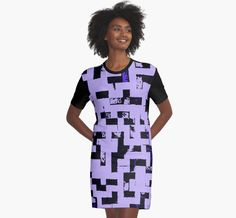 Line Art - The Bricks, tetris style, purple and black by cool-shirts Also Available as T-Shirts & Hoodies, Men's Apparels, Women's Apparels, Stickers, iPhone Cases, Samsung Galaxy Cases, Posters, Home Decors, Tote Bags, Pouches, Prints, Cards, Mini Skirts, Scarves, iPad Cases, Laptop Skins, Drawstring Bags, Laptop Sleeves, and Stationeries  #design #dress #tetris #inspired #purple