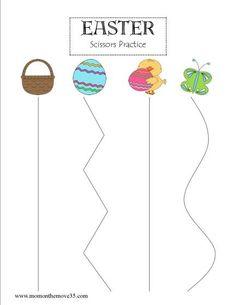 Easter Scissors Practice