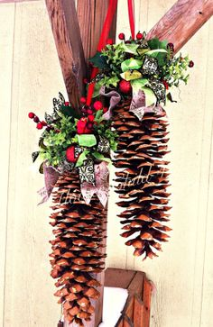 Image Result For Large Pine Cone Christmas Crafts