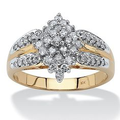 awesome White Diamond 10k Yellow Gold Marquise Split-Shank Cluster Ring (.50 cttw, HI Color, I3 Clarity) Rings 2017 Check more at http://24myshop.top/product/white-diamond-10k-yellow-gold-marquise-split-shank-cluster-ring-50-cttw-hi-color-i3-clarity-rings-2017/
