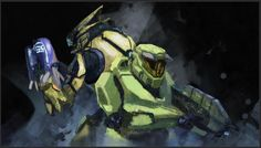 Halo 3 Odst, Halo 2, Anthem Game, John 117, Halo Game, Halo Reach, Red Vs Blue, Sketch Inspiration, Master Chief