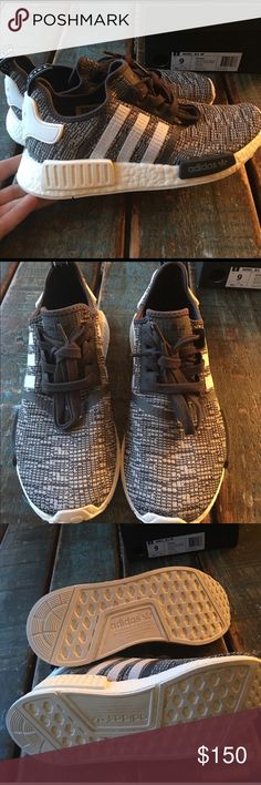 Adidas NMD R1 W, Size 9. The cutest Adidas NMD's that are sold out. I bought them from other Poshmarker but they are too big. Looking to give them a new home and hopefully finding some more that are a touch smaller. Haven't worn. adidas Shoes Sneakers