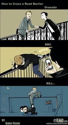 The difference between the Sherlock's & John's