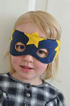 Superhero Mask by http://lilla-a-design.blogspot.com/  This is in swedish on the site, but there's a pattern & the pictures do a good job of explaining, & Chrome offered to translate it for me. :)