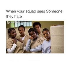 When your squad sees someone they hate ❤ liked on Polyvore featuring accessories