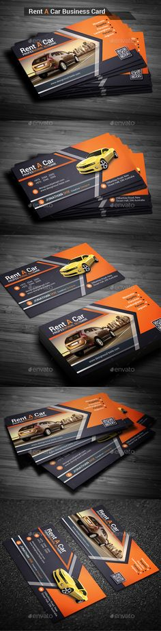 Buy Rent A Car Business Card by on GraphicRiver. Rent A Car Business Card Features Adobe Photoshop Fully Layered PSD files Easy Customizable and Editable Easy To . Professional Business Card Design, Elegant Business Cards, Unique Business Cards, Business Design, Cv Web, Visiting Card Design, Name Card Design, Logos Cards, Bussiness Card