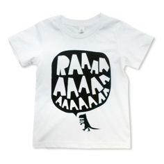 What kid doesn't love dinosaurs? This shirt is an adorable idea for a kid's shirt!