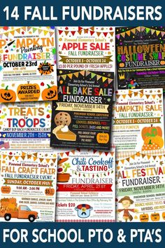 14 Creative Fall Fundraiser Ideas for Your School's PTO or PTA Tons of school pto pta fall fundraiser ideas! Trunk or treat flyers, pumpkin sales, fall bake sales, fall festival and more! Pta School, School Fundraisers, School Fundraising Ideas, School Events, Creative Fundraising Ideas, Sunday School, School Auction, Halloween Tanz, Fundraising Events