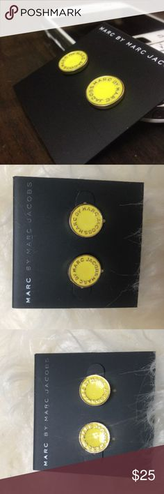 Marc by Marc Jacobs yellow button earrings New Marc by Marc Jacobs Jewelry Earrings