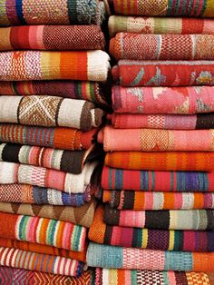 These beautiful blankets got us thinking FIESTA, as we look towards Cinco de Mayo... we'd love to have these draped over patio furniture at a backyard bash.