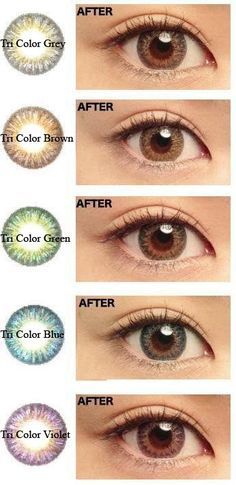 GEO Tri-Color 3-Tone color contact lenses - superbly realistic effect like your own eyes.