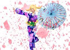 fun girl in kimono yeah yeah so cute yeah