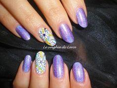 Nail art acquerello