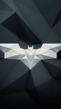 Batman Geometric Logo Wallpaper for iPhone 5 (640x1136)