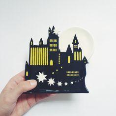 Hogwarts Castle Plate by LisaJunius on Etsy