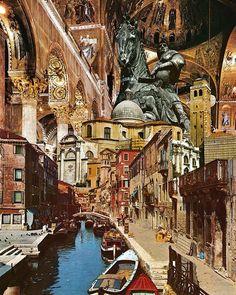Valiant Venezia! #kkcollageaday2016 collage by LeafandPetalVintage