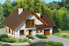 Projekt domu Dom przy Cyprysowej 11 Casas Country, Home Fashion, House Plans, Villa, 1, House Design, Cabin, Mansions, House Styles