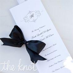 Elegant Black and White Ceremony Programs Keywords: #weddings #jevelweddingplanning Follow Us: www.jevelweddingplanning.com  www.facebook.com/jevelweddingplanning/