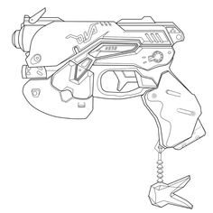 OverWatch Mccree's Gun BluePrint For Prop by netherpirate