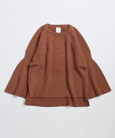 So 1:1(ソウワンバイワン)のFully yarn 両畦 フレアスリーブPO(ニット/セーター) ブラウン