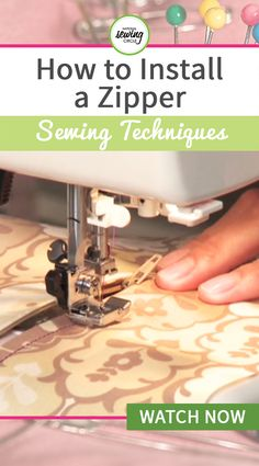 Krista Williams demonstrates how to install a center (or slot) zipper using a self-basing zipper. She shows you every step including preparing the opening, marking a inch seam, ironing the fusible interfacing and more. Bag Patterns To Sew, Sewing Patterns Free, Free Sewing, Patchwork Fabric, Fabric Scraps, Sewing Hacks, Sewing Tutorials, Sewing Lessons, Sewing Tips