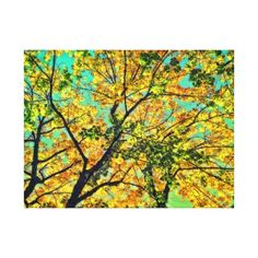 Autumn Leaves Canvas Print - photography gifts diy custom unique special